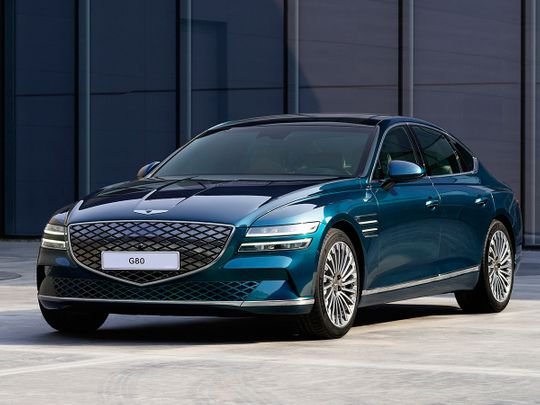Genesis shows off first EV model, the Electrified G80