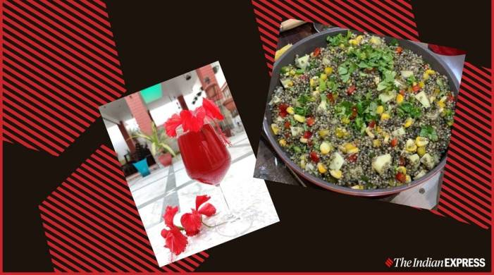 Refresh yourself with hibiscus flowers and a colourful millet salad (recipe inside)