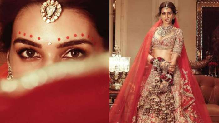 Kriti Sanon stuns as a bride in Manish Malhotra's traditional lehenga from 'Nooraniyat' collection