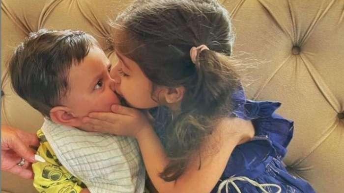 Photo of Jeh Ali Khan celebrating his first Raksha Bandhan with sister Inaaya Naumi Kemmu will melt your heart