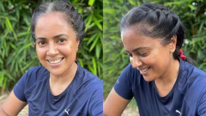 Sameera Reddy shares thought-provoking conversation she had with her dad about hair whitening