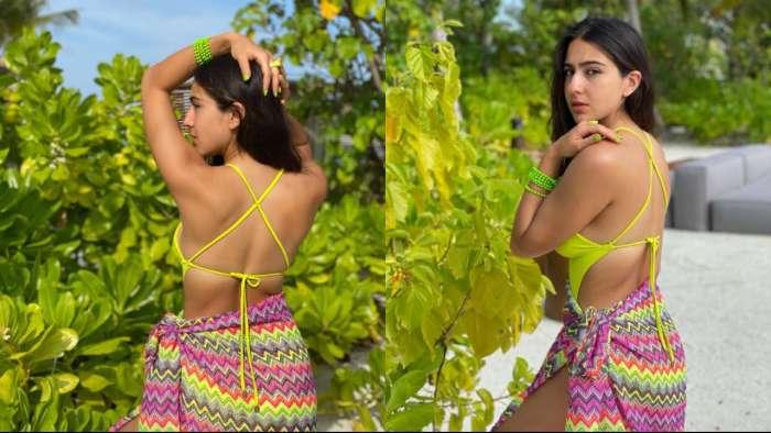 Sara Ali Khan looks exquisite as she poses in sexy yellow bikini, drops drool-worthy photos