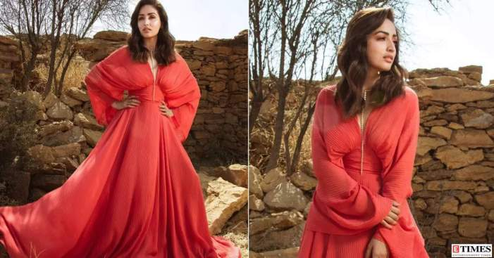Yami Gautam shells out fashion cues in a fiery red dress, stuns internet with her goddess-like charm in new pics   Photogallery