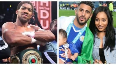 Photo of Anthony Joshua approached by Mahrez's wife in night club