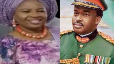 Photo of Buhari mourns as ex-Ogun State Governor, General Diya loses wife