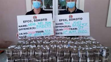 Photo of EFCC Arrests Two Chinese For Offering N100m Bribe To Its Top Officer