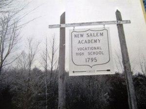 New Salem Academy Sign