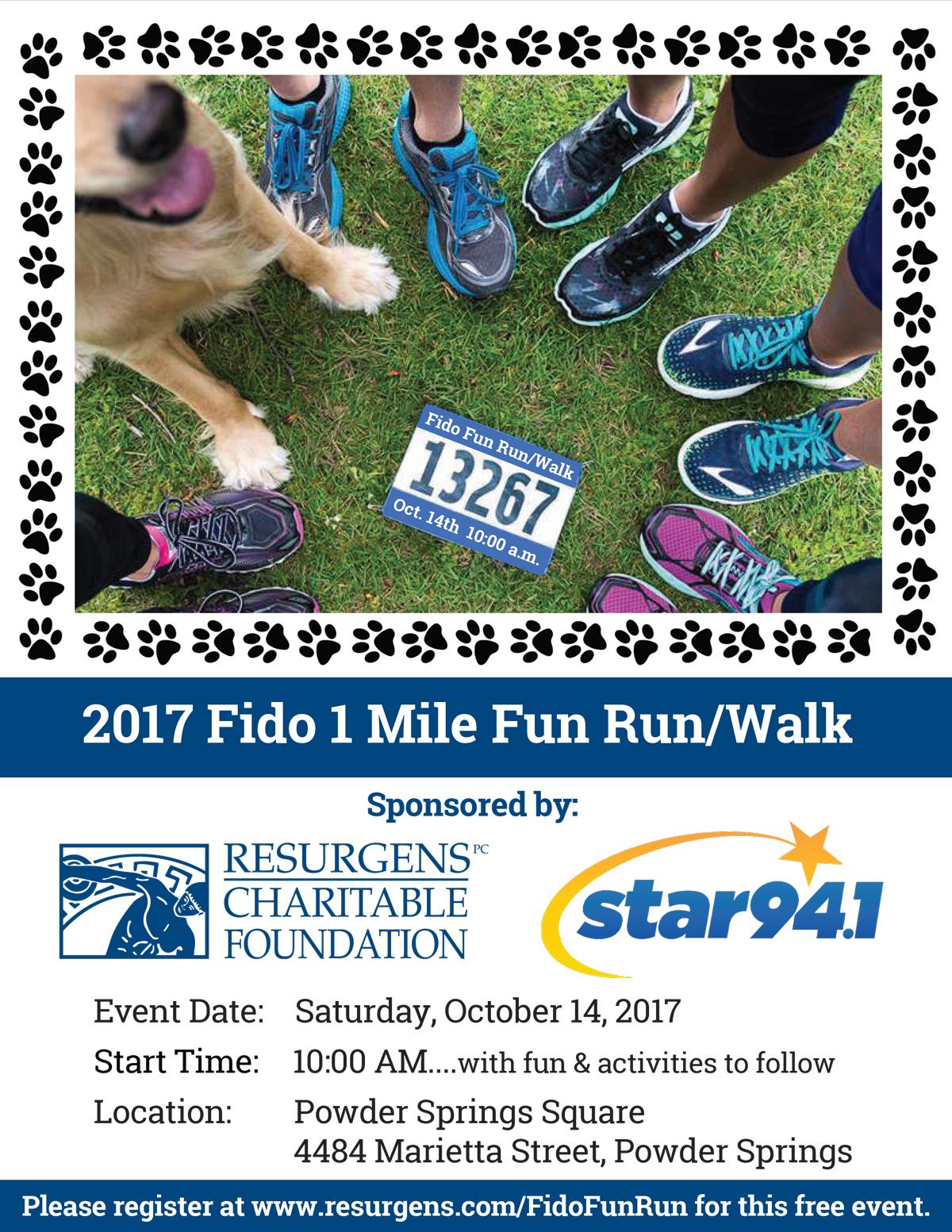 Fido 1-mile Fun Run/Walk October 14, 2017