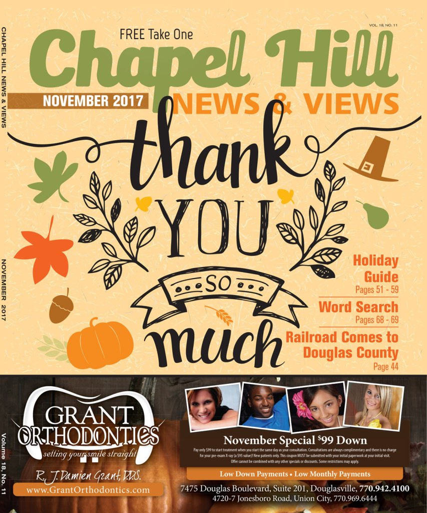 November 2017 Issue of Chapel Hill News & Views