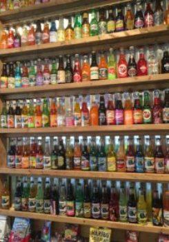 RocketFizz wall of sodas