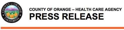 OC Health Press Release
