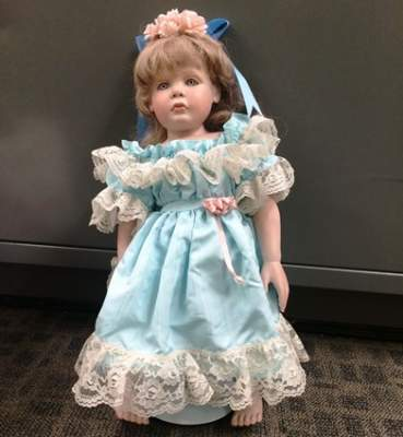 Creepy San Clemente Porcelain Doll