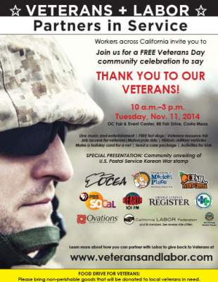 Labor Veterans Day Event
