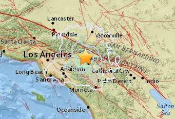 7.25.15 Fontana Earthquake