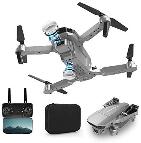 HUEP E100 HD 4K Drone with Camera for Kids and Adults, FPV Drone Beginners RC Foldable Live Video Quadcopter, 3D Flips and Headless Mode with WIFI RC, Long Flight TIme