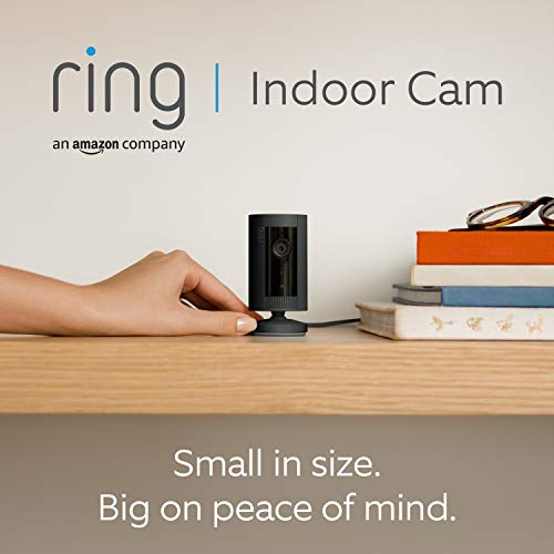 Introducing Ring Indoor Cam by Amazon | Compact Plug-In HD security camera with Two-Way Talk, Works with Alexa | With 30-day free trial of Ring Protect Plan | Black