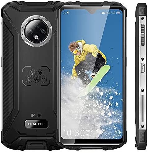 Rugged Smartphone, 2021 OUKITEL WP8 Pro Waterproof Mobile Phone, 6.49 inches 4GB 64GB Triple Camera Face/Fingerprint ID, 5000mAh Battery Android 10 Smartphone (Black)