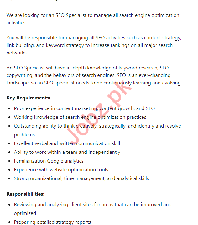 Rebel Disrupting Digital Media Karachi Jobs 2021 for SEO