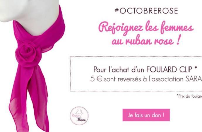 5 € sont reversés à l'Association Sara pour accompagner les femmes atteintes du cancer