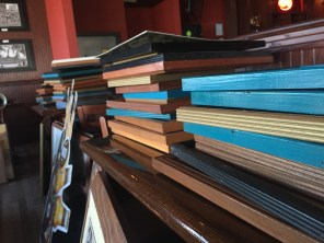 Hundreds of pictures and knick knacks are stacked throughout the restaurant, up for auction. (Clare Bonnyman/CBC)