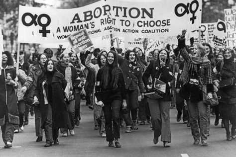 A large number of women showed their support in favour of Right to Choose.