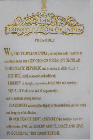 Indian Constitution First Image