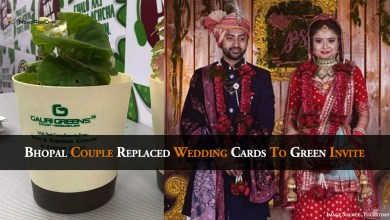 Bhopal Couple replaced Wedding Cards To Green Invite