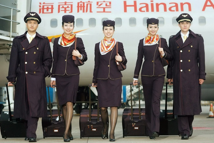 Hainan Airlines stewardess 700dpi