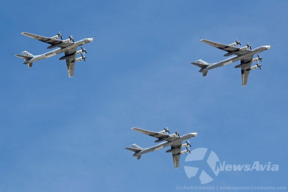 Tupolev Tu-95MS, bombardeiro estratégico que detém o título de avião a hélice mais rápido do mundo.