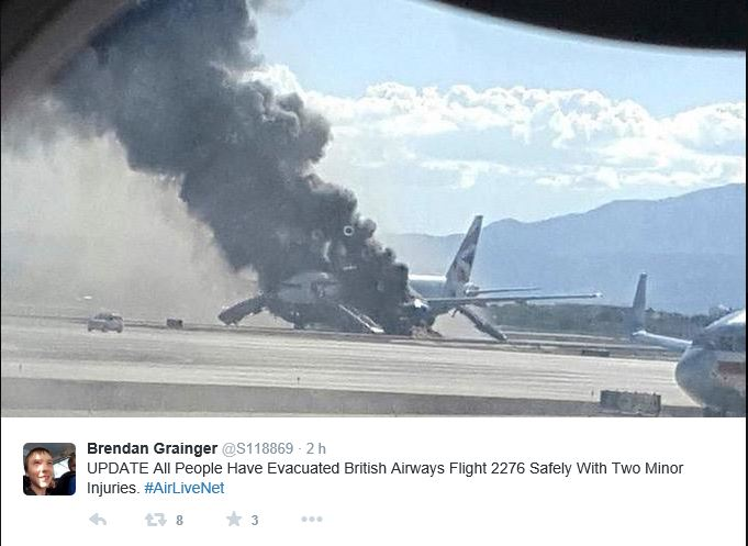 British B777 fire LasVegas Tweet 500px