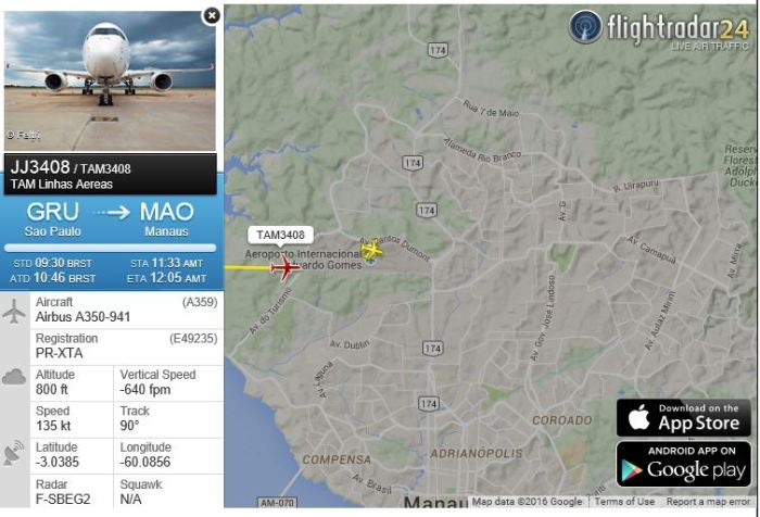 TAM A350_900 Arrival_MAO 25jan2016 800px