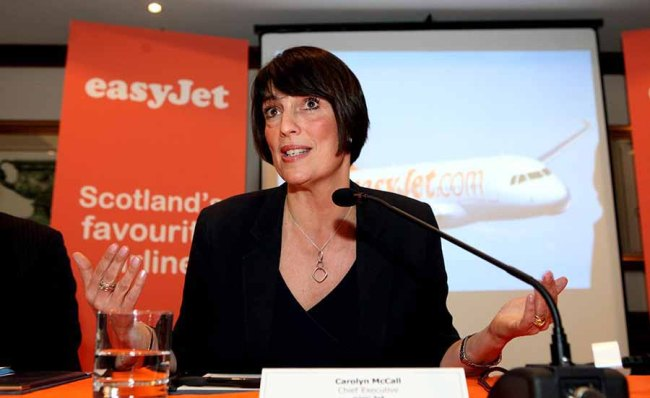 Pic Katielee Arrowsmith/Deadline News Chef Executive of EasyJet Carolyn McCall announces three new routes out of Scotland, including the country's only direct route to Athens.