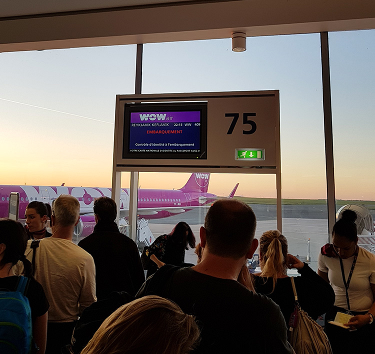 WOW Air Embarquement Gate