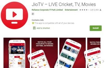 Live Tv Streaming App jio tv