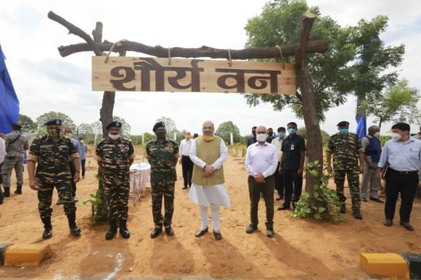Amit Shah participates in CAPFs-tree-plantation-drive