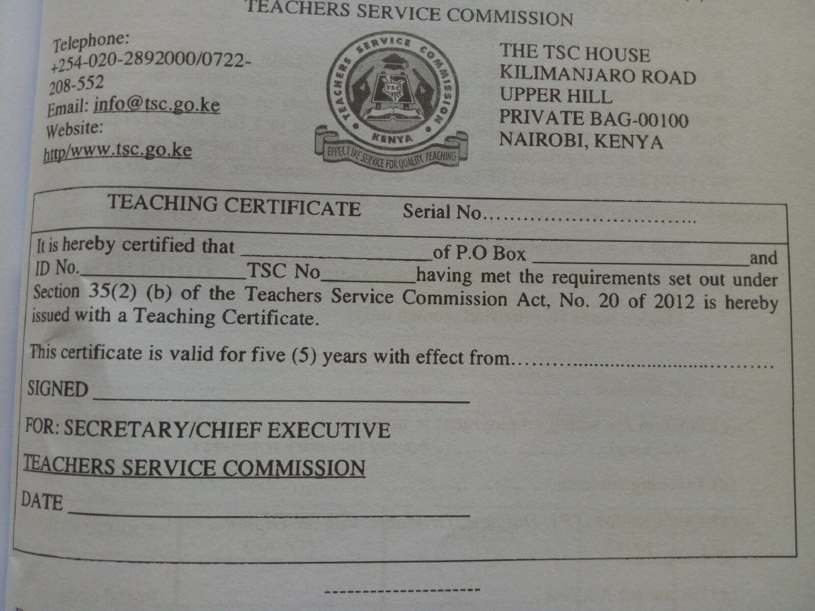 Teacher Certification Certificate   Wiring Diagram Database