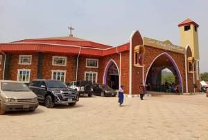 The frontage of the newly built Church