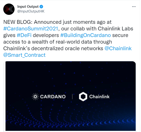 Chainlink and Cardano