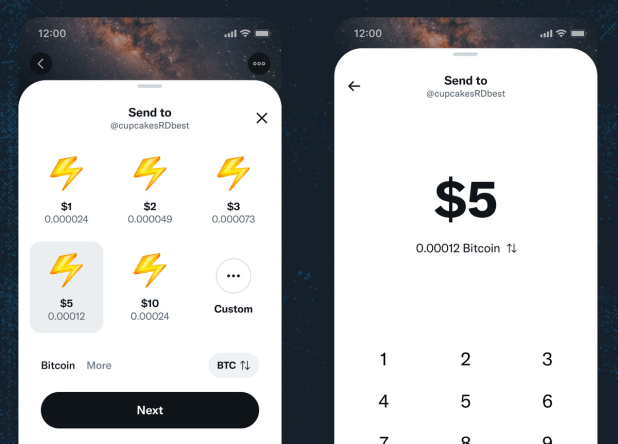 New BTC tipping feature