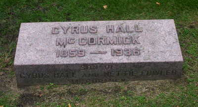 Cyrus Mccormick grave marker