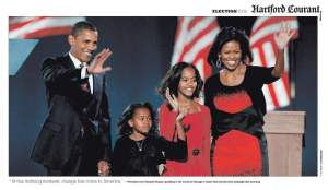 Hartford Obama Election Victory Newspaper