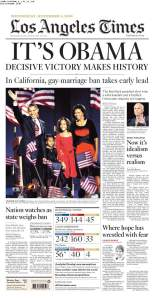 Los Angeles Obama Election Victory Newspaper