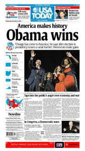 USA Today Obama Election Victory Newspaper