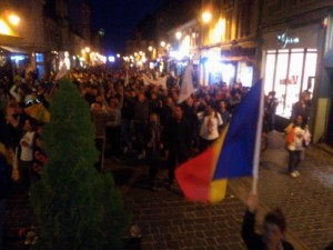 protestarii, pe strada Republicii - foto: Robert Lazar