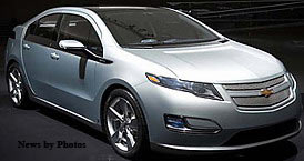 "General Motors ""GM"" debuts its Chevy Volt Electric Car Designed to Drive 40 miles on a charge - Ready by 2011"