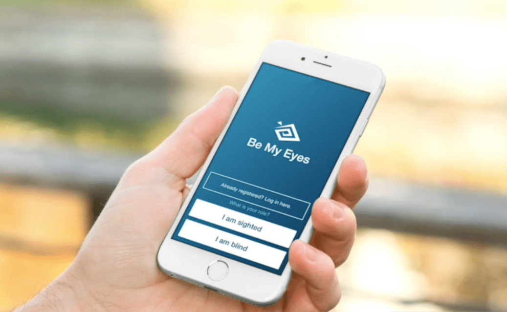 Be My Eyes is a charity and giving app that lends eyes to the blind.