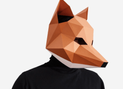 Lapa Studios's Paperart & Paper Masks is a humorous design tool offering unique and affordable last-minute paper masks for Halloween, including flamingo masks, fox masks, and French bulldog masks