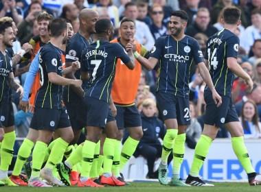 Algeria's Mahrez scores as Manchester City pip Liverpool to EPL title