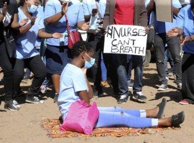 Harare City Council Nurses Protesting