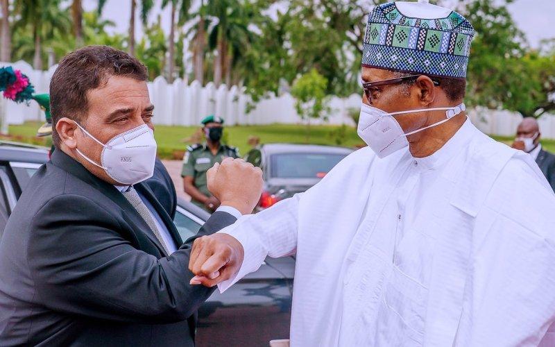 Dbeibeh at the Presidential Villa, Abuja